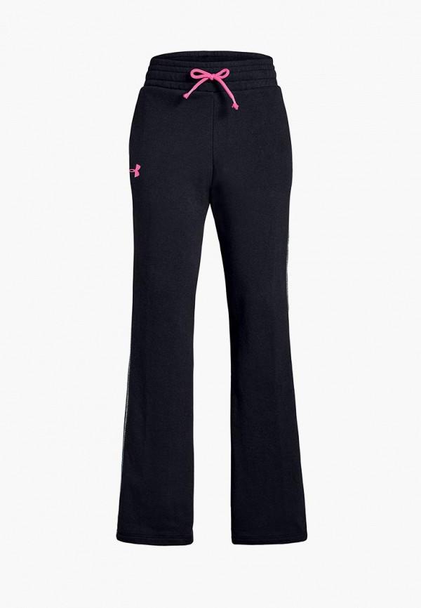 спортивные спортивные брюки under armour для девочки, черные