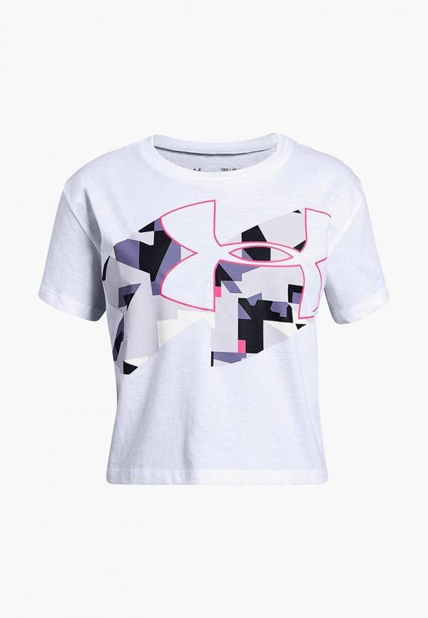 футболка under armour для девочки, белая