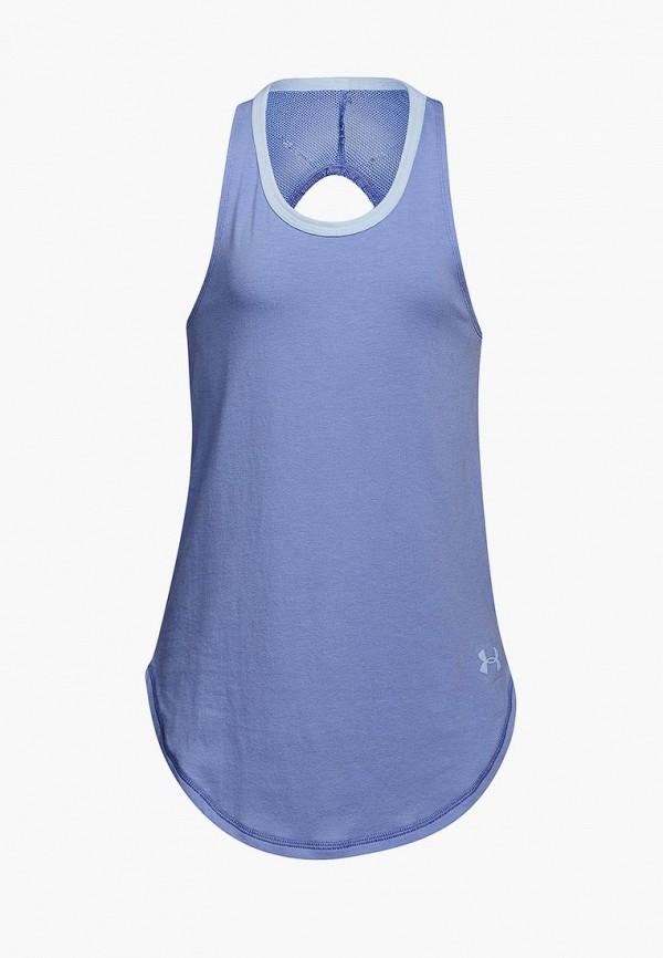 спортивные майка under armour для девочки, синяя