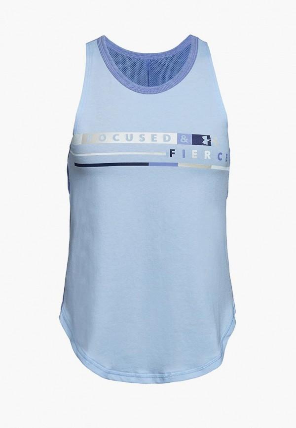 спортивные майка under armour для девочки, голубая