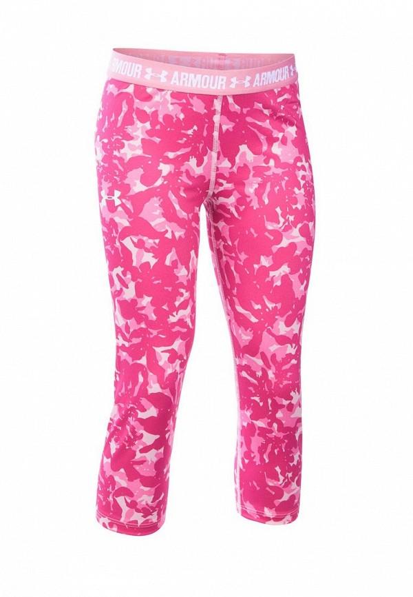 капри under armour для девочки, розовые