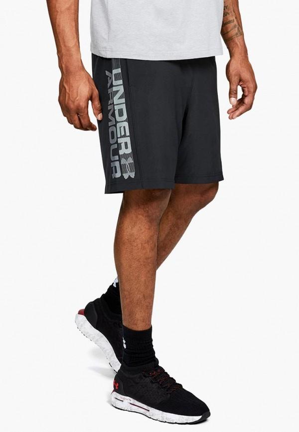 мужские спортивные спортивные шорты under armour, черные