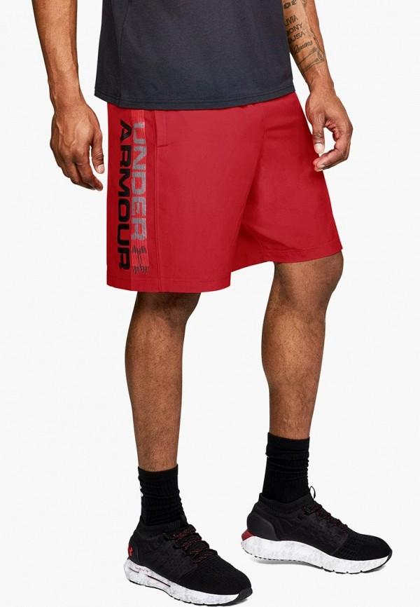Купить Шорты спортивные Under Armour, Woven Graphic Wordmark Short, un001embkqh5, красный, Осень-зима 2018/2019