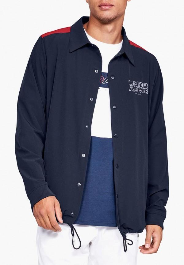 Купить Куртка Under Armour, UA Baseline Coaches Jacket, un001embvbx6, синий, Осень-зима 2018/2019