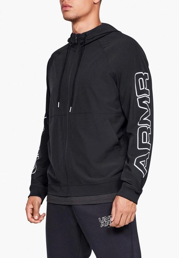 Купить Куртка Under Armour, UA Baseline FZ Woven Jacket, un001embvbx7, черный, Осень-зима 2018/2019