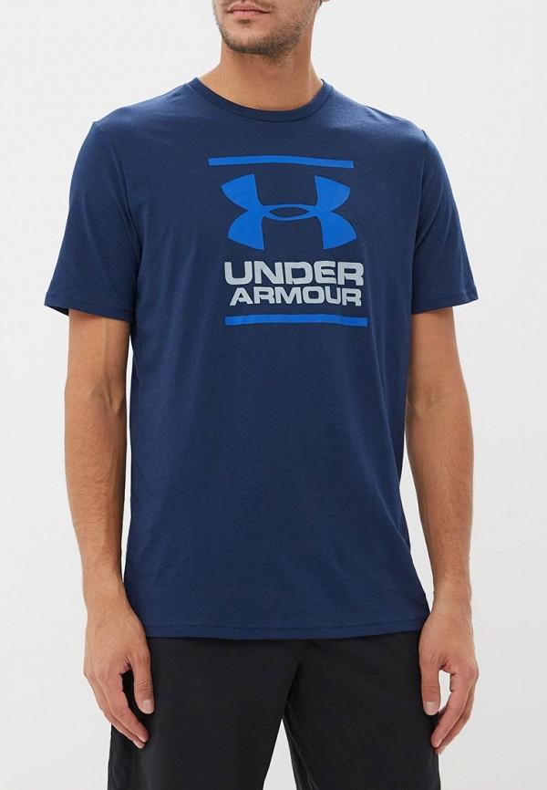 Купить Футболка спортивная Under Armour, UA GL Foundation SS T, un001embvcq5, синий, Осень-зима 2018/2019