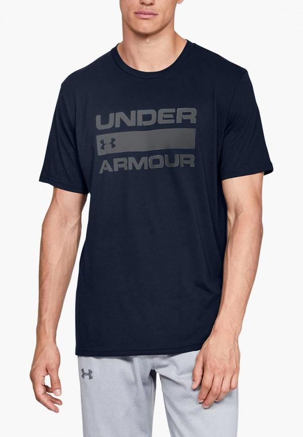 Купить Футболка спортивная Under Armour, UA TEAM ISSUE WORDMARK SS, un001embvcr3, синий, Осень-зима 2018/2019