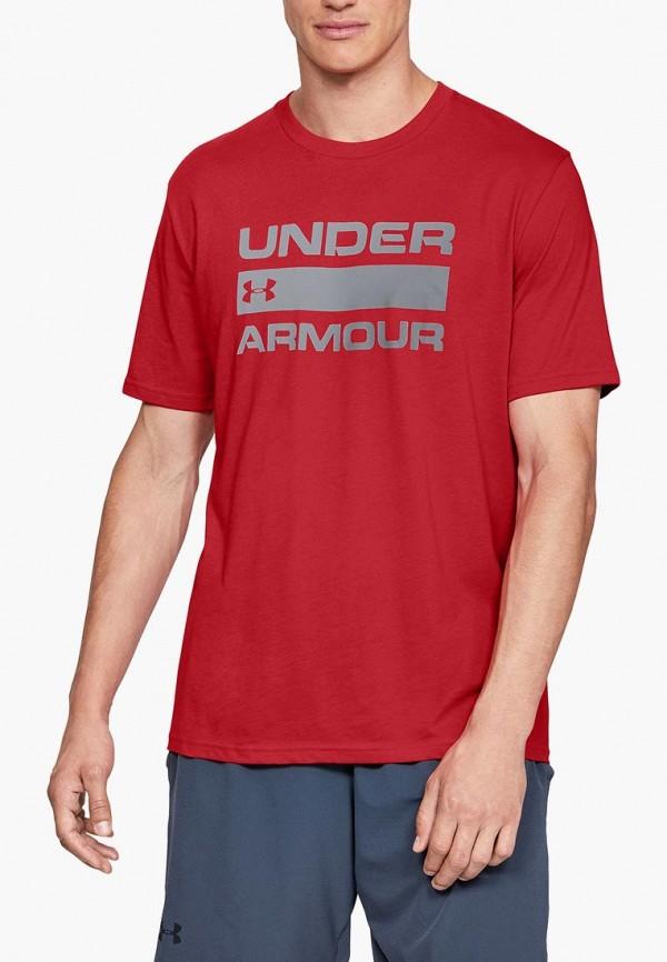 Купить Футболка спортивная Under Armour, UA TEAM ISSUE WORDMARK SS, un001embvcr4, красный, Осень-зима 2018/2019