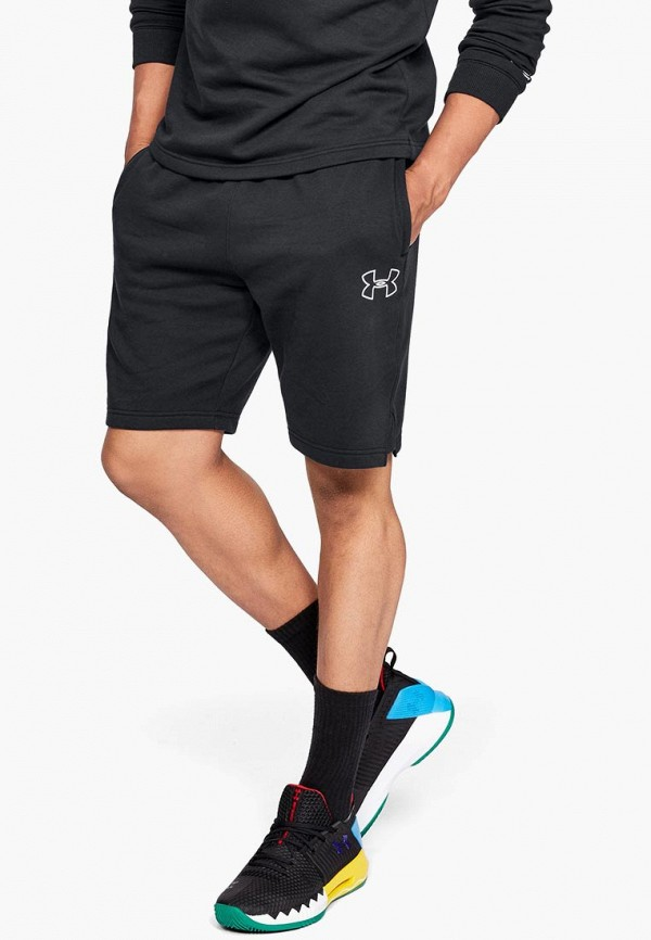 Купить Шорты спортивные Under Armour, UA Baseline Fleece Short, un001embvdd8, черный, Осень-зима 2018/2019