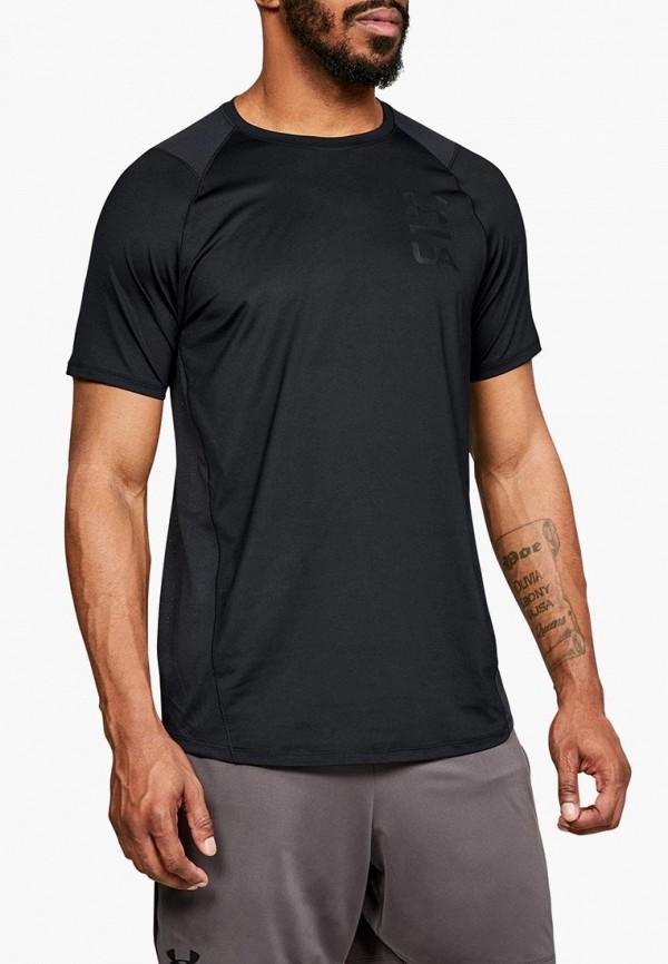 Купить Футболка спортивная Under Armour, MK1 SS Logo Graphic, un001embvlp0, черный, Осень-зима 2018/2019