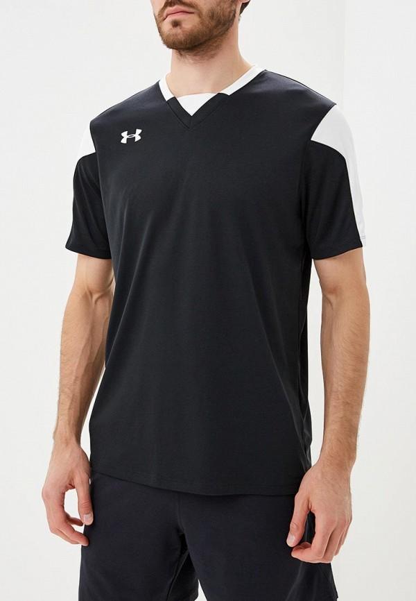 Купить Футболка спортивная Under Armour, Maquina Jersey, UN001EMCUIK8, черный, Осень-зима 2018/2019