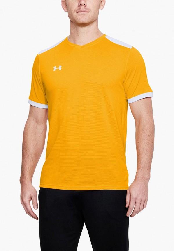 Купить Футболка спортивная Under Armour, Threadborne Match Jersey, UN001EMCUIL1, желтый, Осень-зима 2018/2019