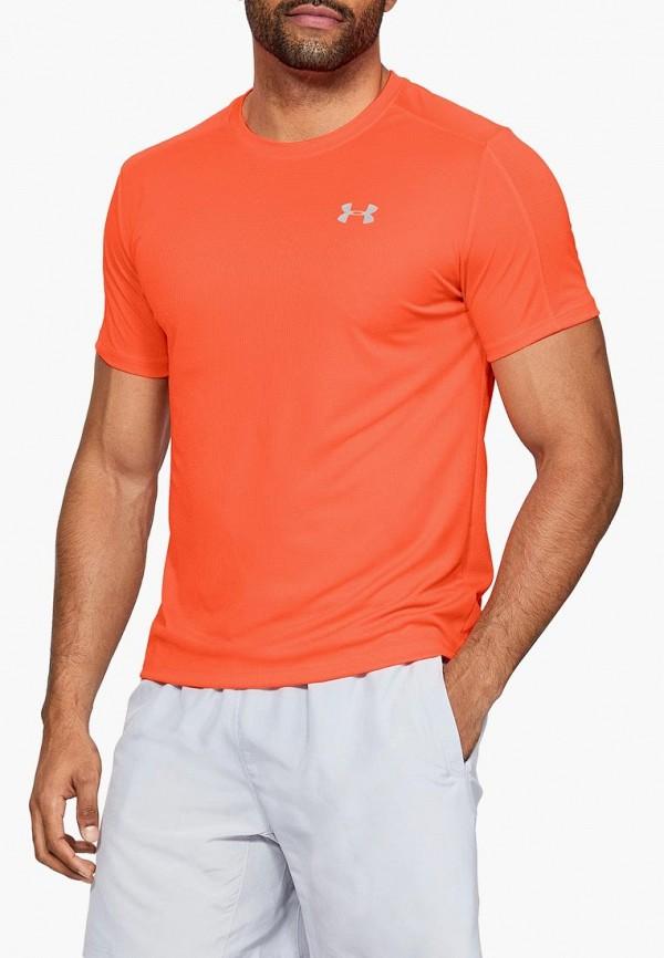 Купить Футболка спортивная Under Armour, UA SPEED STRIDE SHORTSLEEVE, un001emduqu2, оранжевый, Весна-лето 2019