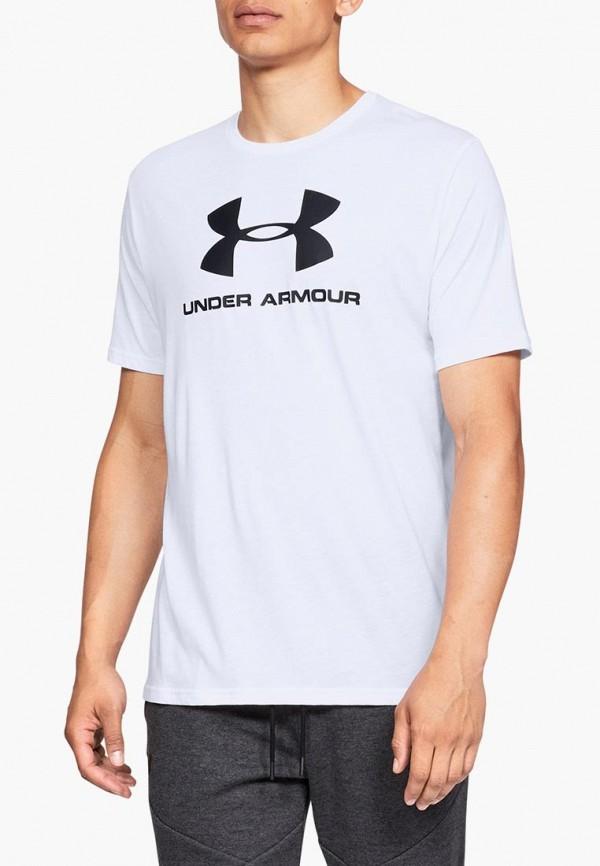 Купить Футболка спортивная Under Armour, SPORTSTYLE LOGO SS, un001emduqx9, белый, Весна-лето 2019