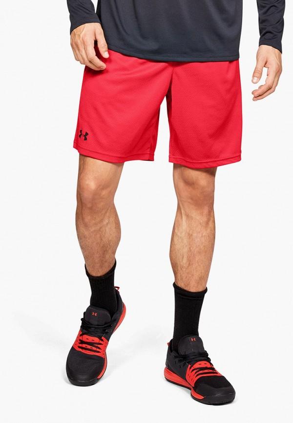 мужские спортивные спортивные шорты under armour, красные