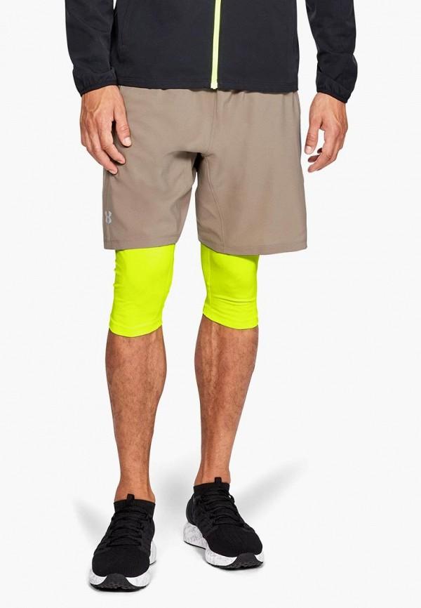мужские спортивные спортивные шорты under armour, бежевые