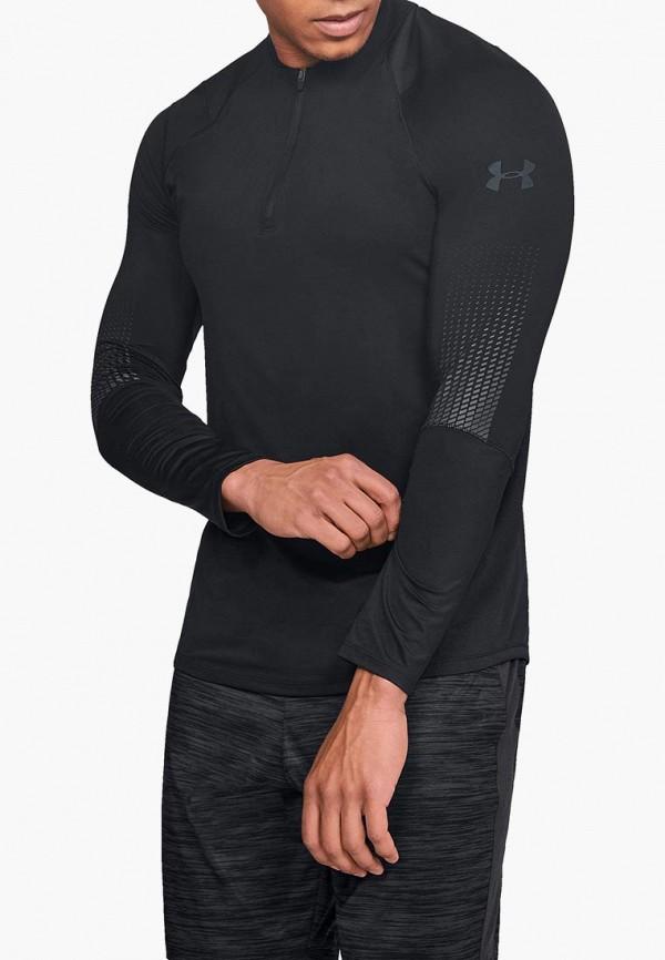 мужской лонгслив under armour, черный