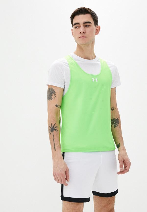 мужская спортивные майка under armour, зеленая