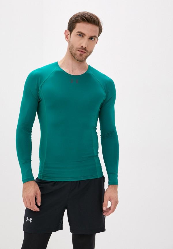 мужской лонгслив under armour, зеленый