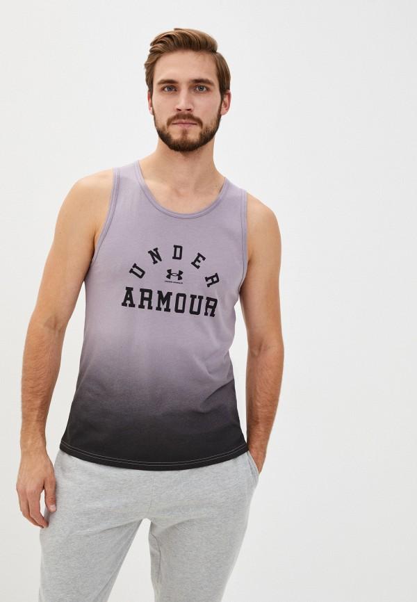 мужская спортивные майка under armour, фиолетовая
