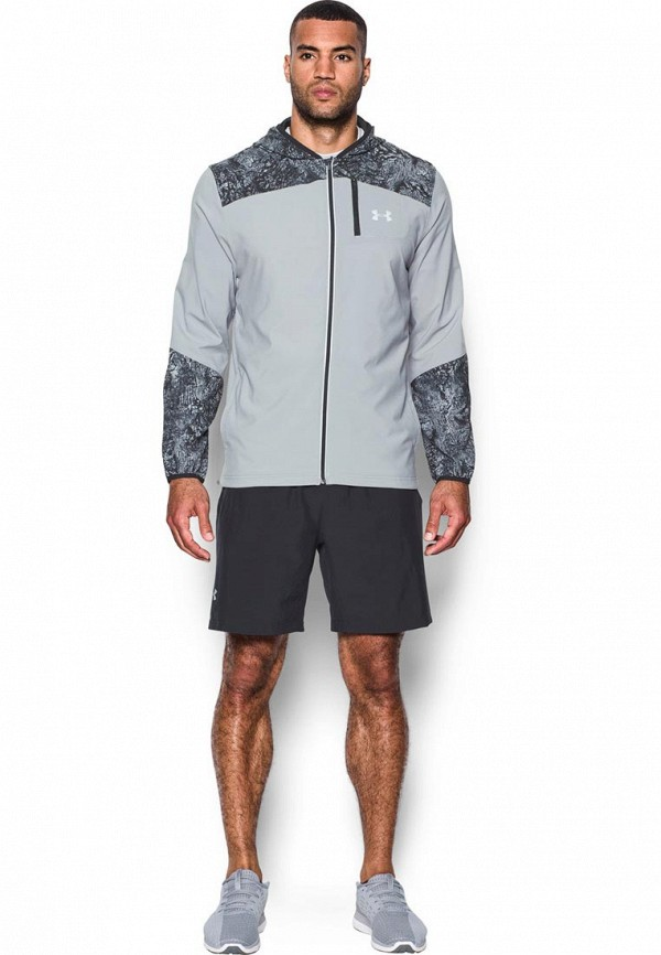 Купить Ветровка Under Armour, UA Storm Printed Jacket, UN001EMXRR43, серый, Осень-зима 2017/2018