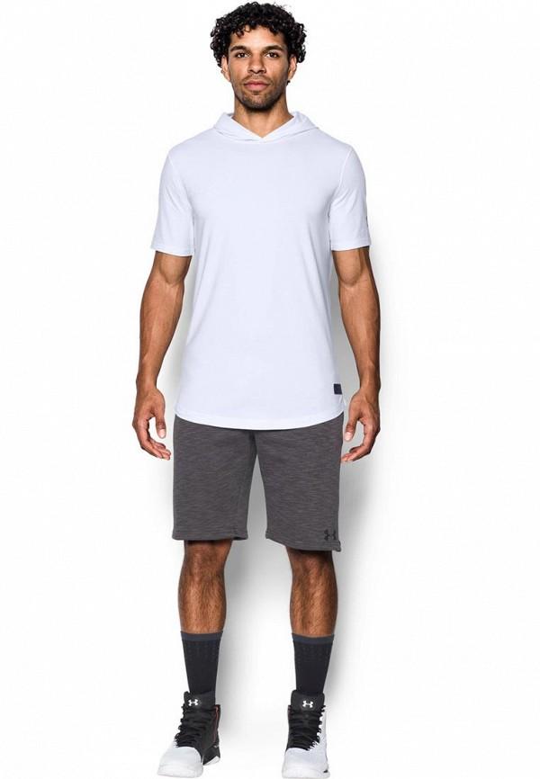 Купить Футболка спортивная Under Armour, UA Baseline SS Hooded Tee, un001emxrw60, белый, Осень-зима 2017/2018