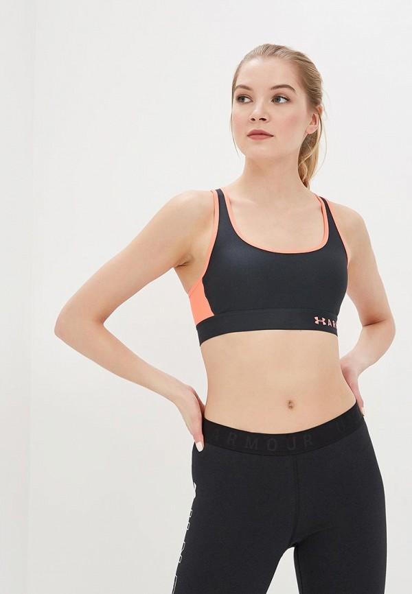 женский спортивные спортивный бюстгальтер under armour, разноцветный