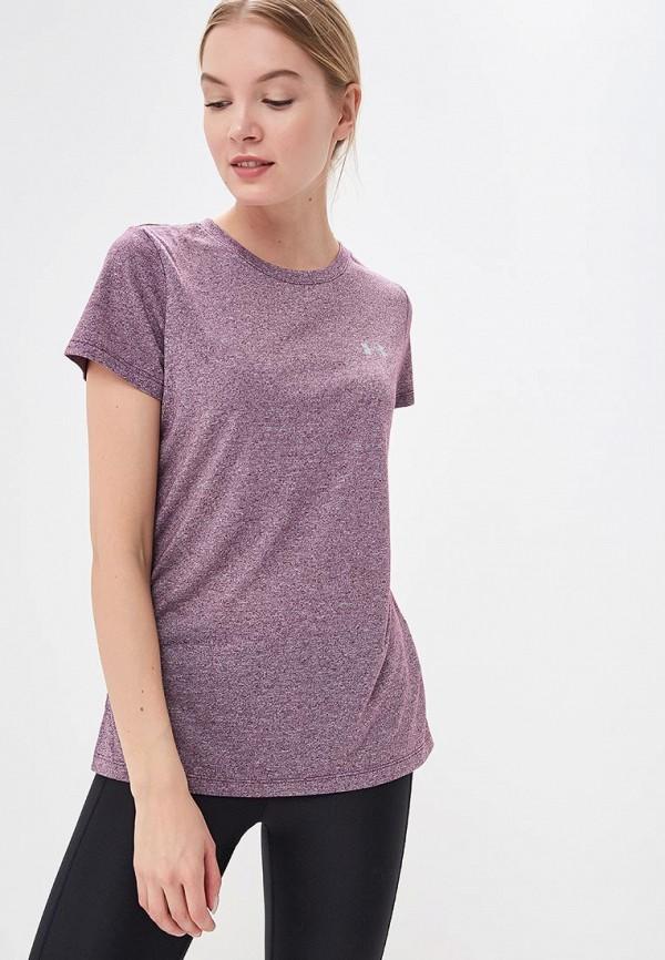 женская футболка under armour, фиолетовая