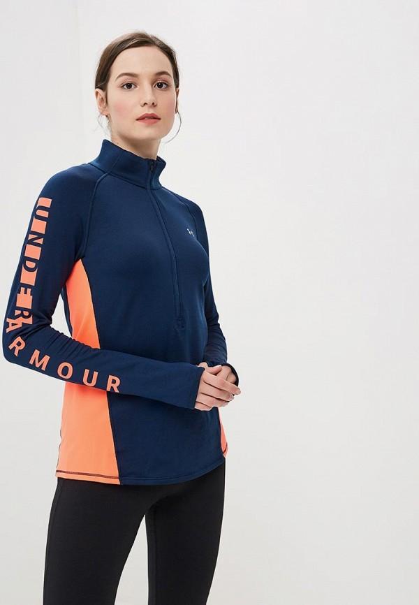 Купить Лонгслив спортивный Under Armour, UA CG Armour Graphic 1/2 Zip, un001ewbvdm2, синий, Осень-зима 2018/2019