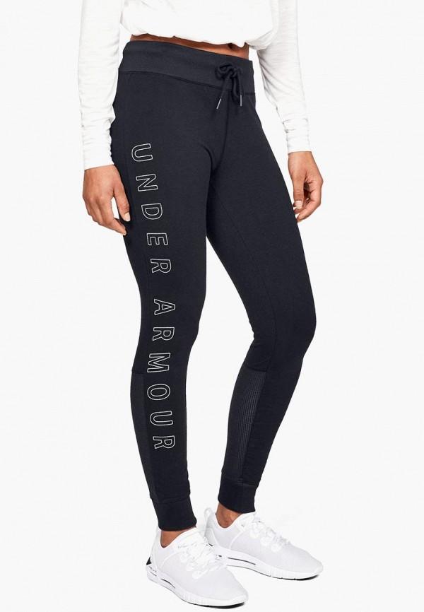 женские спортивные спортивные брюки under armour, черные