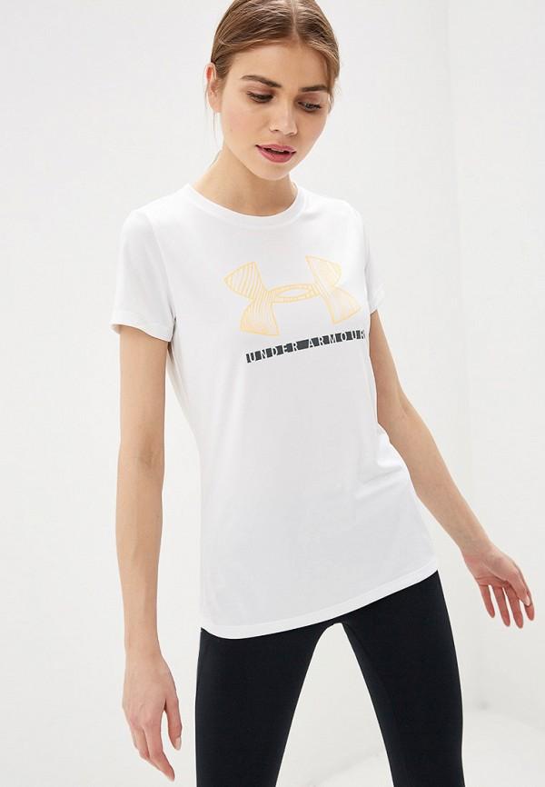 женская футболка under armour, белая