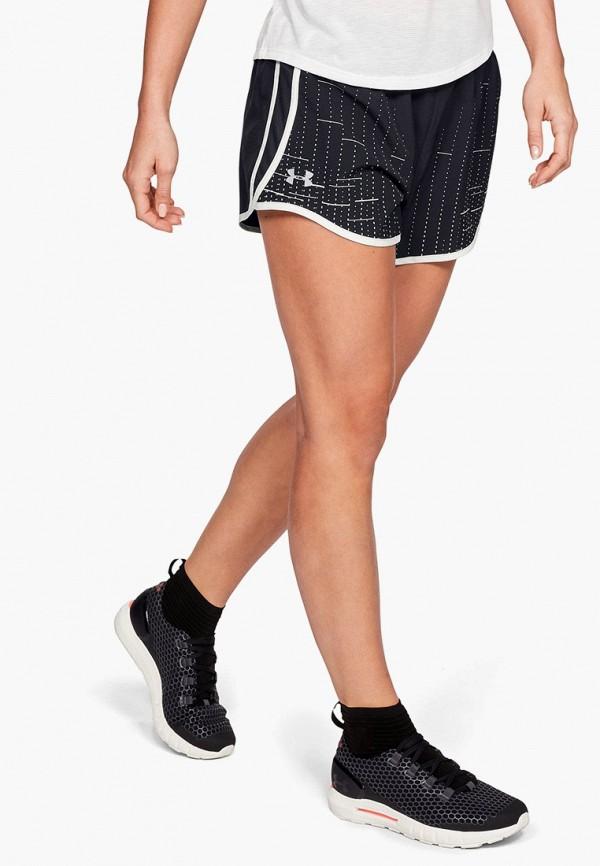 женские спортивные спортивные шорты under armour, черные