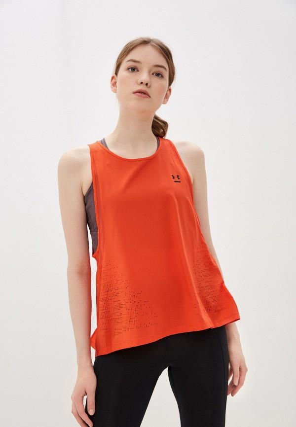 женская спортивные майка under armour, оранжевая