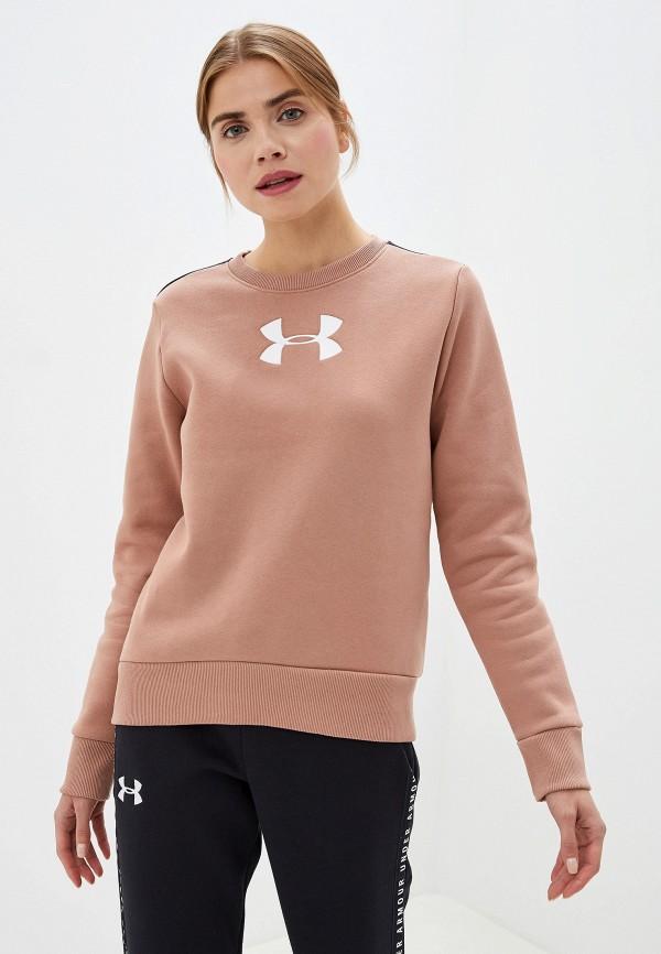 женский свитшот under armour, коричневый