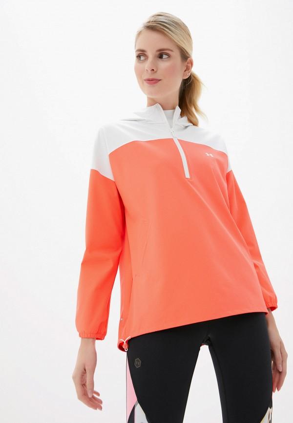 женская куртка under armour, оранжевая