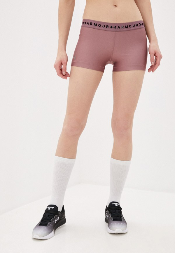 женские спортивные шорты under armour, розовые
