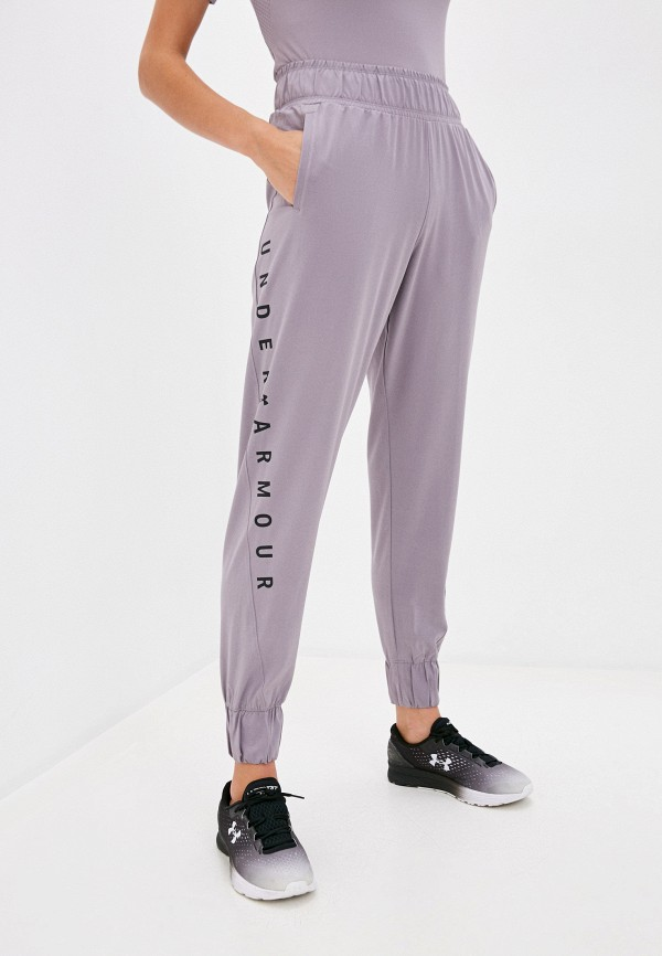 женские спортивные брюки under armour, фиолетовые
