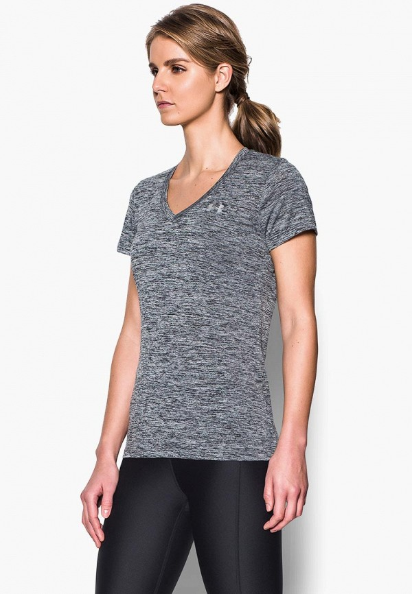 женская футболка under armour, черная