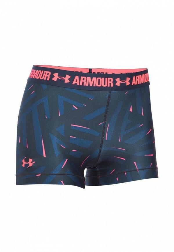 Купить Шорты компрессионные Under Armour, UA HG Armour Printed Shorty, un001ewoje12, синий, Весна-лето 2017
