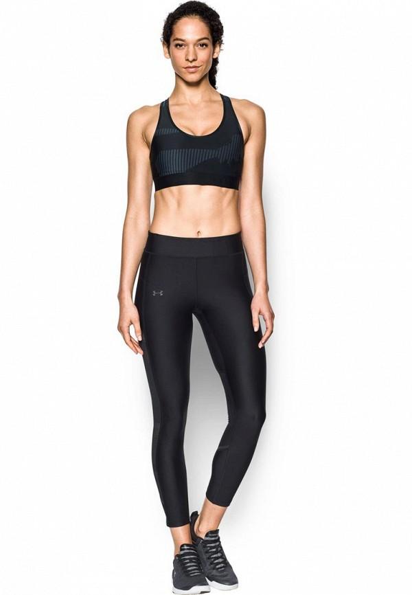 женский спортивные спортивный бюстгальтер under armour, черный
