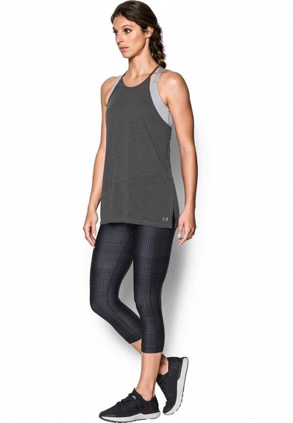 Купить Майка спортивная Under Armour, Threadborne Fashion Tank, UN001EWXRX41, серый, Осень-зима 2017/2018