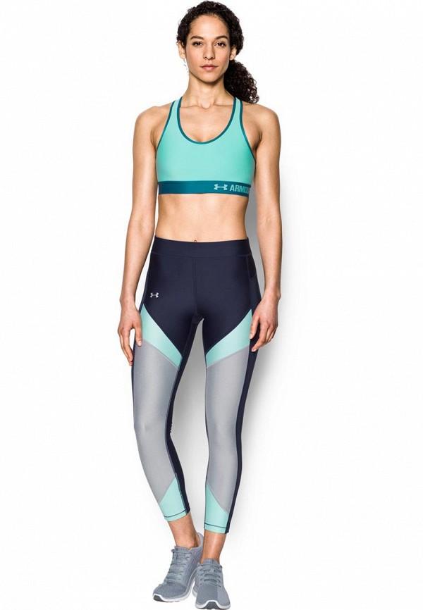 женский спортивные спортивный бюстгальтер under armour, бирюзовый