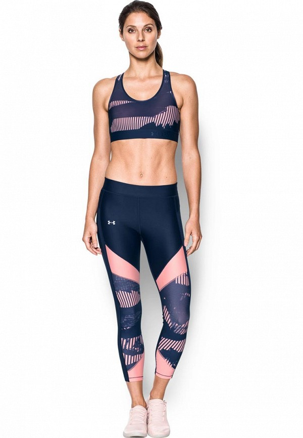 женский спортивные спортивный бюстгальтер under armour, синий
