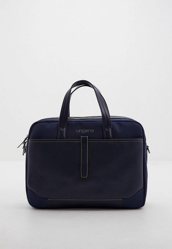 мужская сумка ungaro, синяя