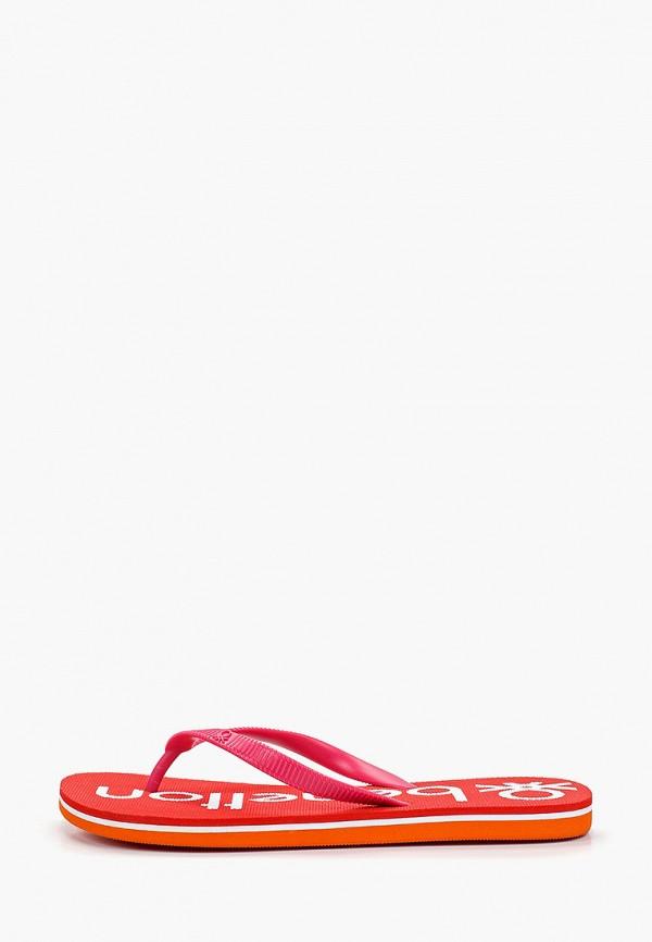 сланцы united colors of benetton для девочки, розовые