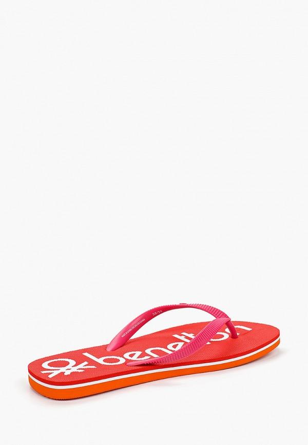 Фото 3 - Сланцы United Colors of Benetton розового цвета