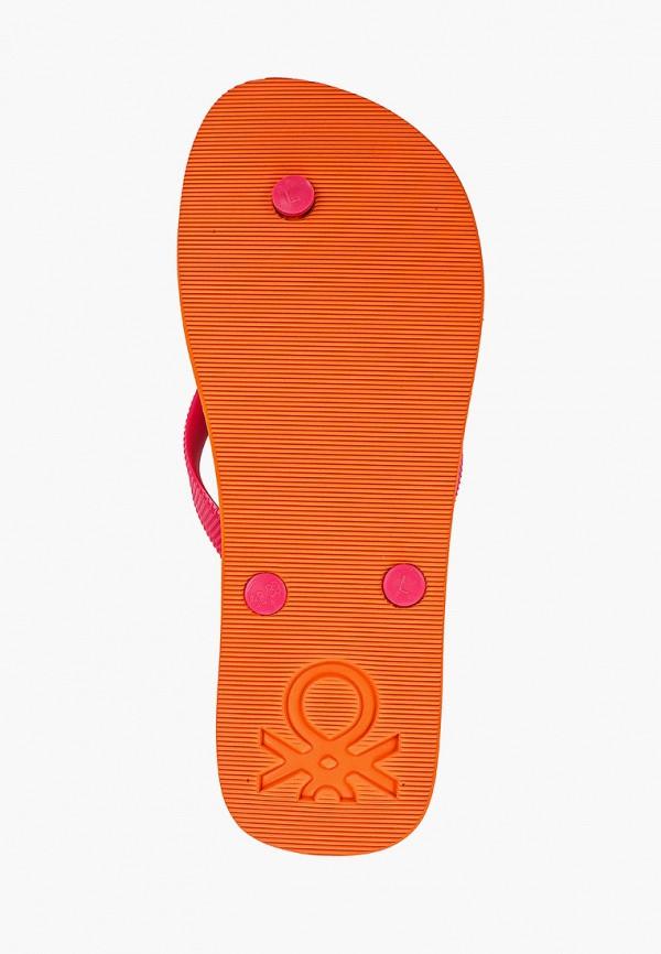 Фото 5 - Сланцы United Colors of Benetton розового цвета