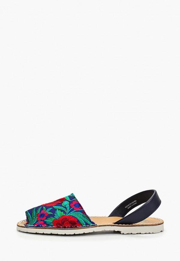 женские сандалии united colors of benetton, синие