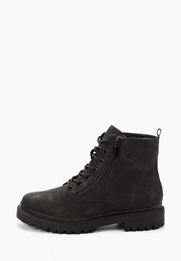 женские ботинки united colors of benetton, черные