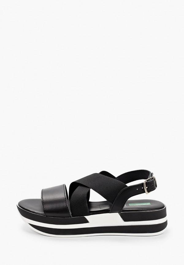 женские сандалии united colors of benetton, черные